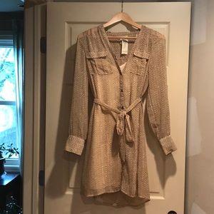 Sheer overlay beige Arden B dress NWT